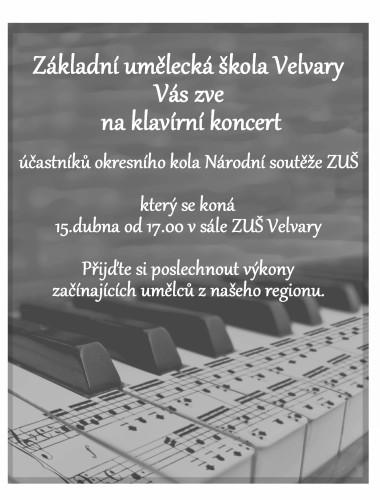 plakát klavírní koncert 15.4.2014