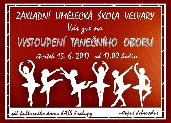 plakát taneční vystoupení 2017